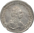 Russia, Russia: Catherine II Poltina (1/2 Rouble) 1777 СПБ-?Л AU53 NGC,...