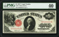 Large Size:Legal Tender Notes, Fr. 37 $1 1917 Legal Tender PMG Extremely Fine 40.. ...