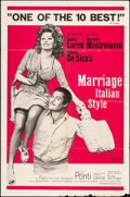 """Movie Posters:Foreign, Marriage Italian-Style (Embassy, 1964). Folded, Fine/Very Fine. One Sheet (27"""" X 41""""). Foreign.. ..."""