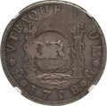 Jamaica, Jamaica: British Colony Counterstamped 3 Shilling 4 Pence ND (1758) F15 NGC,...