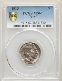 1913 5C Type One MS67 PCGS.(PCGS# 3915)