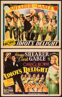 """Idiot's Delight (MGM, 1939). Fine/Very Fine. Title Lobby Card & Lobby Card (11"""" X 14""""). Comedy. ... (Total..."""