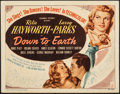 "Movie Posters:Musical, Down to Earth (Columbia, 1947). Fine+. Title Lobby Card (11"" X 14""). Musical.. ..."