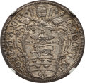 Italy: Papal States. Innocent XI Testone Anno XIII (1688) MS66 NGC