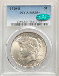 Peace Dollars, 1926-S $1 MS65+ PCGS. CAC. PCGS Population: (798/112). NGC Census: (373/36). CDN: $550 Whsle. Bid for NGC/PCGS MS65. Mintag...