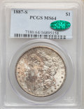 Morgan Dollars: , 1887-S $1 MS64 PCGS. CAC. PCGS Population: (2056/476). NGC Census: (966/159). CDN: $410 Whsle. Bid for NGC/PCGS MS64. Minta...