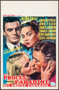 """Movie Posters:Hitchcock, The Paradine Case (Selznick, 1948). Folded, Very Fine-. Belgian (14.5"""" X 22""""). Hitchcock.. ..."""