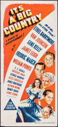 "Movie Posters:Comedy, It's a Big Country (MGM, 1951). Folded, Very Fine. Australian Daybill (13.5"" X 30""). Comedy.. ..."