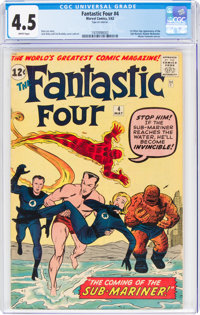Fantastic Four #4 (Marvel, 1962) CGC VG+ 4.5 White pages
