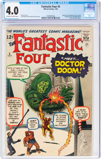 Fantastic Four #5 (Marvel, 1962) CGC VG 4.0 Off-white to white pages