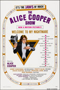 """Movie Posters:Rock and Roll, Alice Cooper: Welcome to My Nightmare (Key Pictures, 1975). Folded, Very Fine+. One Sheet (27"""" X 41""""). Rock and Roll.. ..."""