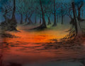 Animation Art:Color Model, The Lord of the Rings Production Painted Background Original Art (Ralph Bakshi, 1978)....