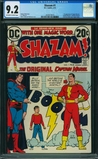 Shazam! #1 (DC, 1973) CGC NM- 9.2 OFF-WHITE TO WHITE pages
