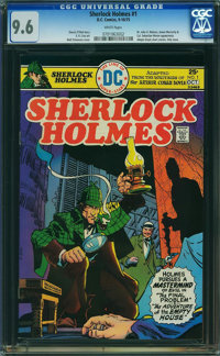 Sherlock Holmes #1 (DC, 1975) CGC NM+ 9.6 WHITE pages