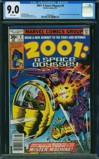 2001: A Space Odyssey #9 (Marvel, 1977) CGC VF/NM 9.0 WHITE pages