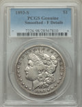 1893-S $1 -- Smoothed -- PCGS Genuine. Fine Details. Mintage 100,000. From The Bert Mintz and Helen Mintz-Hittner Col...