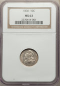 Bust Dimes: , 1836 10C MS63 NGC. NGC Census: (20/39). PCGS Population: (34/44). MS63. Mintage 1,190,000. ...