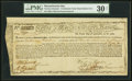 Colonial Notes:Massachusetts, Massachusetts Treasury Certificate £390 March 1, 1783 Anderson MA-22 PMG Very Fine 30 Net.. ...