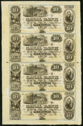 Obsoletes By State:Louisiana, New Orleans, LA- Canal Bank $10-$10-$10-$10 18__ Uncut Sheet About Uncirculated.. ...