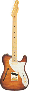 Musical Instruments:Electric Guitars, 2013 Fender Telecaster Thinline Sunburst Semi-Hollow Body Electric Guitar, Serial # US13042466.. ...
