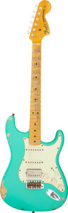 Musical Instruments:Electric Guitars, 2014 Fender Stratocaster '69 Relic Sea Foam Green Solid Body Electric Guitar, Serial # R76622.. ...
