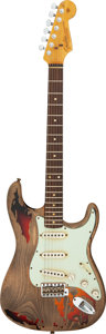 Musical Instruments:Electric Guitars, 2013 Rory Gallagher Fender Stratocaster Natural/Sunburst Solid Body Electric Guitar, Serial #R70606.. ...