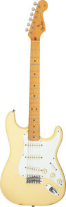 Musical Instruments:Electric Guitars, Circa 1983 Fender Stratocaster '57 Reissue Olympic White Solid Body Electric Guitar, Serial #V013431.. ...