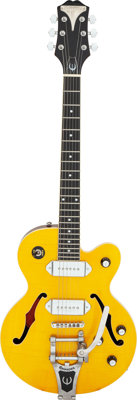 2000 Epiphone Wildkat Amber Semi-Hollow Body Electric Guitar, Serial #00030082