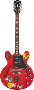 Musical Instruments:Electric Guitars, Circa 2005 Gibson Alvin Lee ES-335 Cherry Semi-Hollow Body Electric Guitar, Serial #AL-15.. ...