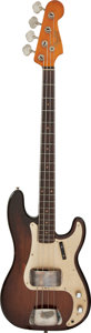 Musical Instruments:Bass Guitars, Circa 1959 Fender Precision Bass Brown Stain Electric Bass Guitar, Serial #37187.. ...