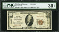 National Bank Notes:Kansas, Pittsburg, KS - $10 1929 Ty. 1 The First National Bank Ch. # 3463 PMG Very Fine 30 EPQ.. ...