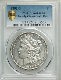1892-S $1 -- Harshly Cleaned -- PCGS Genuine. AU Details. NGC Census: (368/822). PCGS Population: (539/876). CDN: $1,150...
