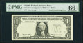 Error Notes:Missing Third Printing, Missing Third Printing Error Fr. 1921-? $1 1995 Federal Reserve Note. PMG Gem Uncirculated 66 EPQ.. ...