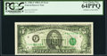 Full Back to Face Offset Error Fr. 1980-F $5 1988A Federal Reserve Note. PCGS Very Choice New 64PPQ