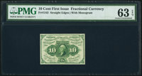 Fr. 1242 10¢ First Issue PMG Choice Uncirculated 63 EPQ