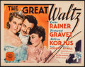 "Movie Posters:Drama, The Great Waltz (MGM, 1938). Fine+. Title Lobby Card (11"" X 14""). Drama.. ..."