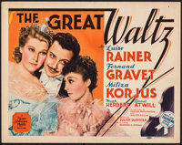 "The Great Waltz (MGM, 1938). Fine+. Title Lobby Card (11"" X 14""). Drama"