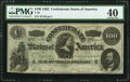 Confederate Notes:1862 Issues, T49 $100 1862 PF-1 Cr. 347 PMG Extremely Fine 40.. ...
