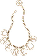 "Luxury Accessories:Accessories, Chanel Gold Chain and Crystal Medallions Necklace. Condition: 2 . 17"" Length. ..."