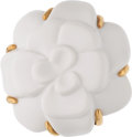 "Luxury Accessories:Accessories, Chanel White Agate & 18k Gold Camellia Brooch. Condition: 1. 1.5"" Diameter. ..."