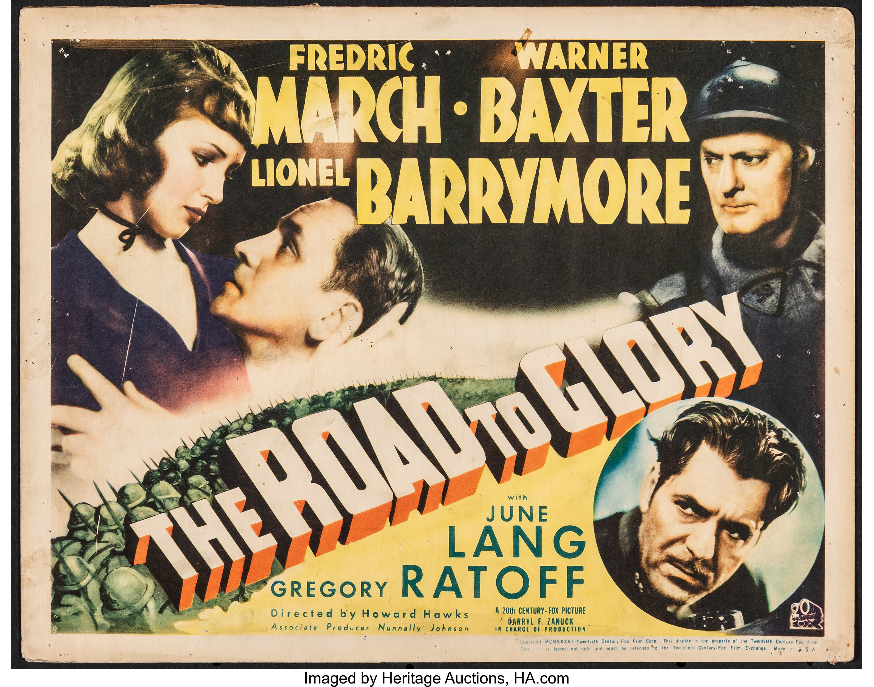 War Movie - The Road to Glory (1936)