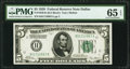 Fr. 1950-K $5 1928 Federal Reserve Note. PMG Gem Uncirculated 65 EPQ