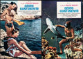 "Movie Posters:Foreign, The Sixth Continent (D.E.A, 1953). Folded, Very Fine-. Italian Vertical Photobustas (5) (18.75"" X 26.25"") & Italian Horizont... (Total: 8 Items)"