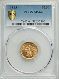1895 $2 1/2 MS64 PCGS. PCGS Population: (36/30 and 0/18+). NGC Census: (31/35 and 0/3+). CDN: $1,500 Whsle. Bid for NGC/...