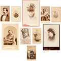 Photography:CDVs, Collection Of 19th Century Photographs Of Famous Personali...