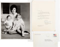 Political:Small Paper (1896-present), Jacqueline Kennedy: Signed White House Photo.... (Total: 2 Items)