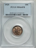 1925 10C MS64 Full Bands PCGS. PCGS Population: (199/218). NGC Census: (78/69). CDN: $165 Whsle. Bid for problem-free NG...
