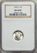 1944-D 10C MS68 Full Bands NGC. NGC Census: (57/0). PCGS Population: (109/0). Mintage 62,224,000. ...(PCGS# 5053)