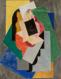 Albert Gleizes (1881-1953) Danseuse, 1923 Gouache on paper 10-5/8 x 8-1/4 inches (27 x 21 cm) Signed and dated lower