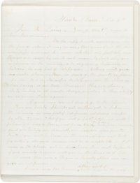 [Mormon Church]. Parley P. Pratt (1807-1957, author and member of the Quorum of the Twelve Apostles). Autograph Letter...